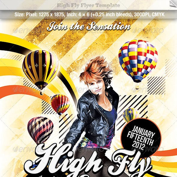 High Fly Flyer Template