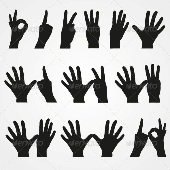 Illustrations of Numbers in the Form of Hands