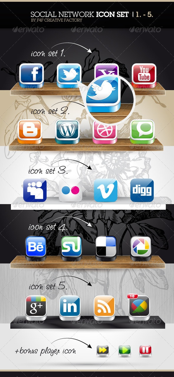 Social Network Icons - Icons