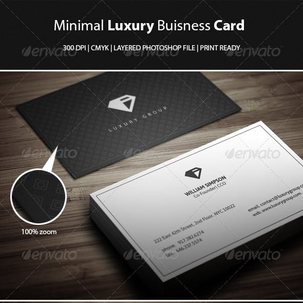 Minimal Luxury Buisness Card