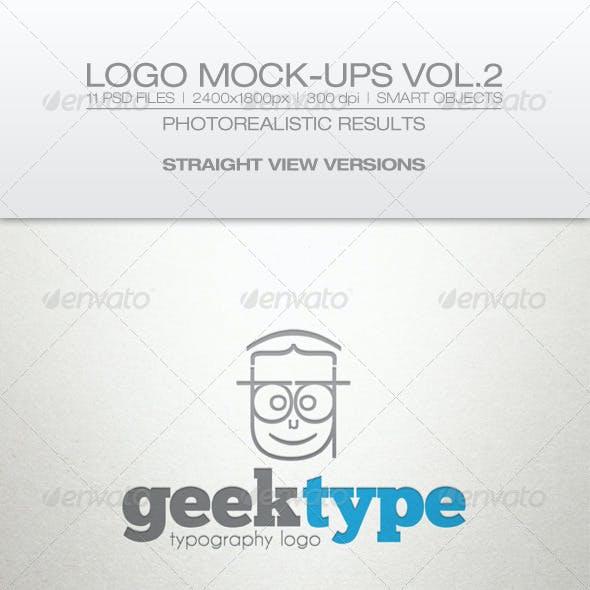Logo Mock-ups Vol.2 Straight View
