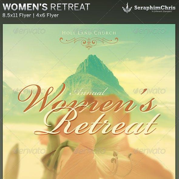 Women's Retreat Church Flyer Template