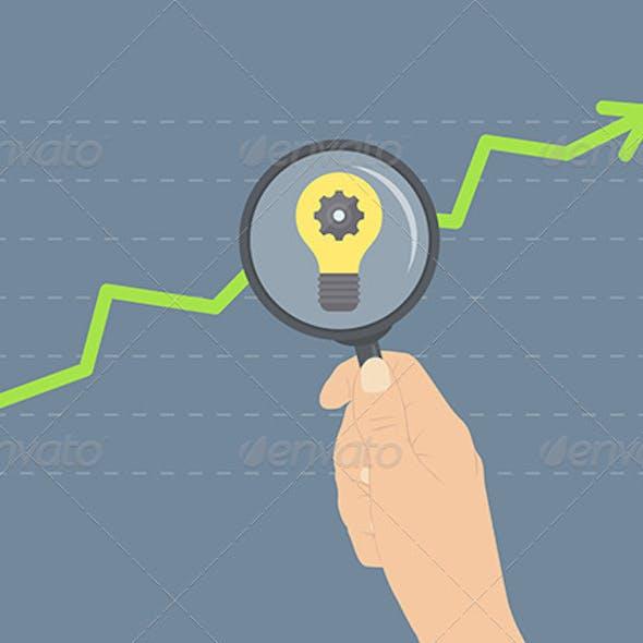 Analyzing Growth Flat Illustration Concept
