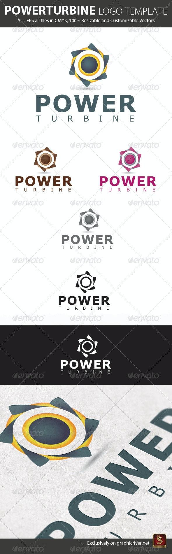 Power Turbine Logo Template - Vector Abstract