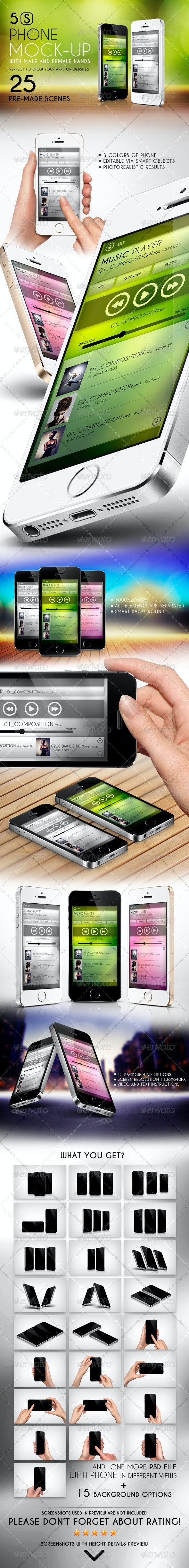 5S Phone Mock-up - Mobile Displays