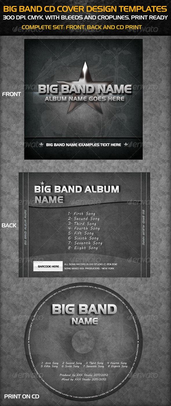 Big Band Cd Cover Templates - CD & DVD Artwork Print Templates