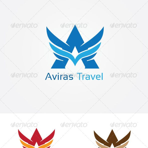 Aviation A Letter Logo