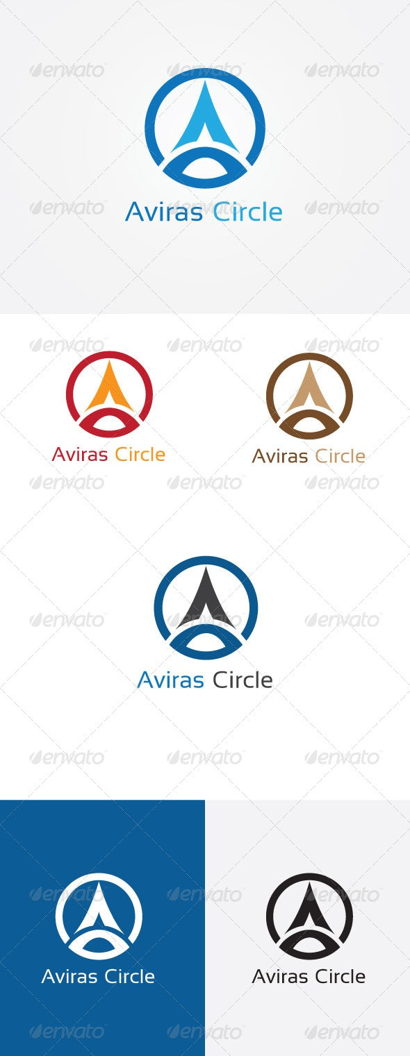 A Letter Circle Logo - Letters Logo Templates
