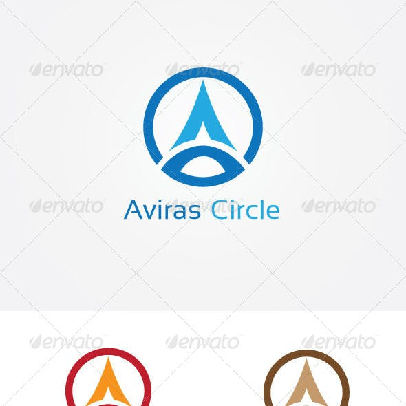 A Letter Circle Logo