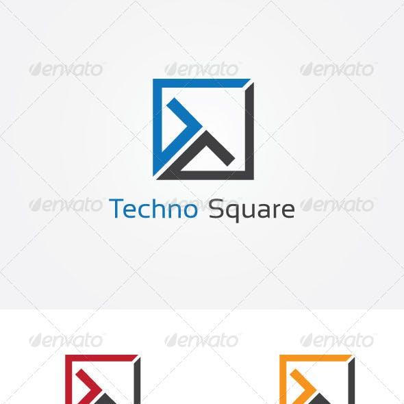 T Letter Square Logo