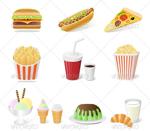 Fast food set - Food Objects