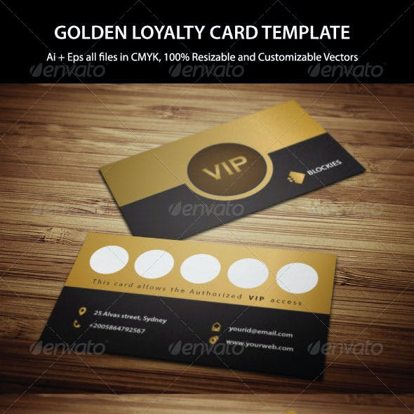 Exclusive Loyalty Card Template