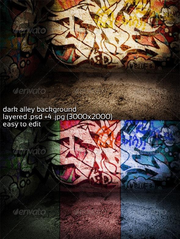 Dark Alley Background  - 3D Backgrounds