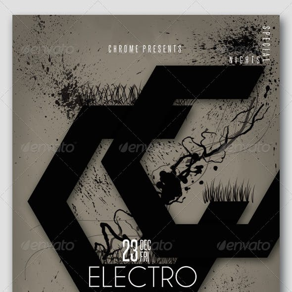 Electro Sounds10 Futuristic Flyer