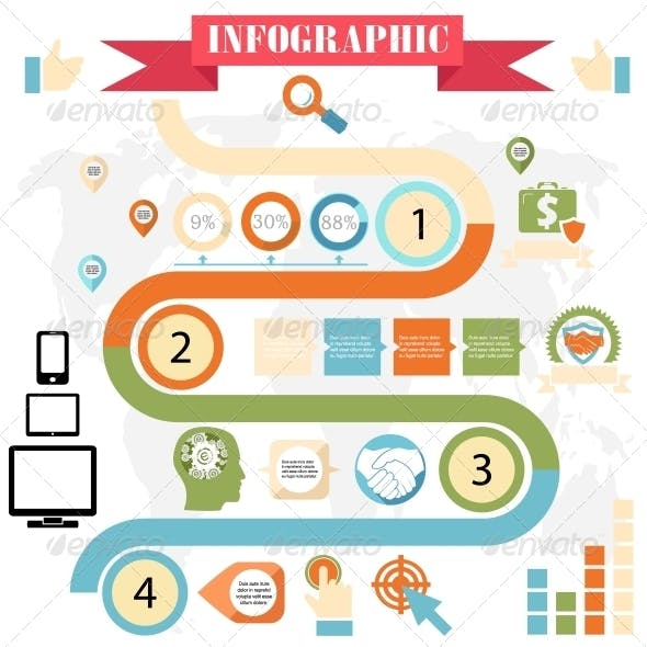 Business Steps Infographics