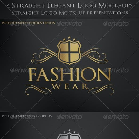 4 Straight Elegant Logo Mock-ups