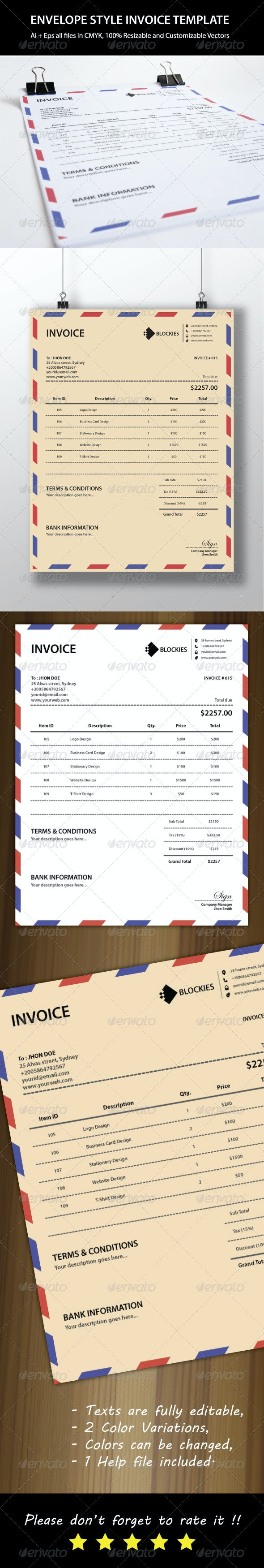Mail Invoice Template - Proposals & Invoices Stationery