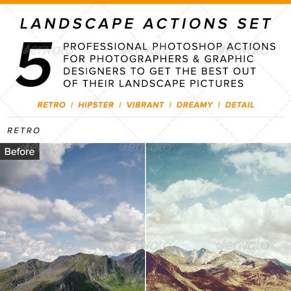 Landscape Actions Set