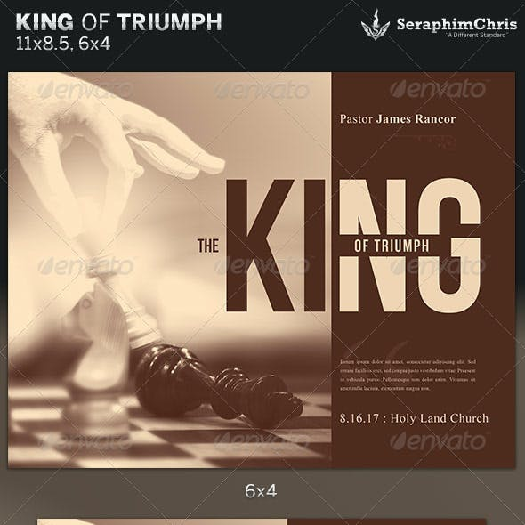 King of Triumph: Church Flyer Template