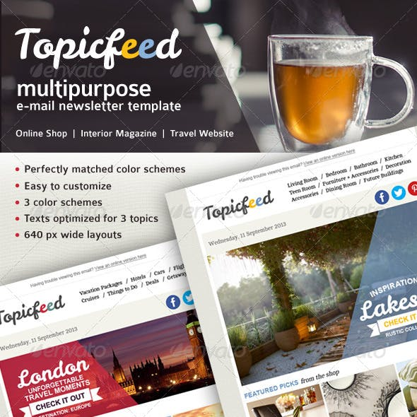 Topicfeed Multiporpose E-mail Newsletter