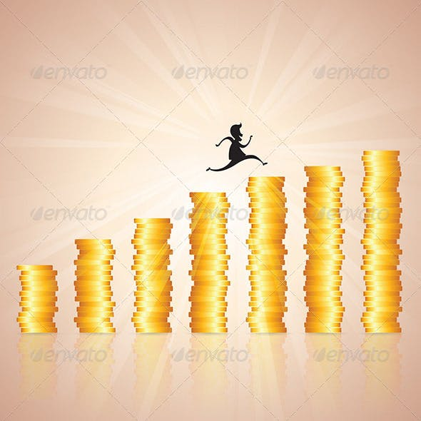 Hopping on Gold Coin Ladder