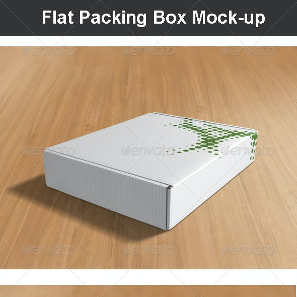 Flat Packing Box Mock-up