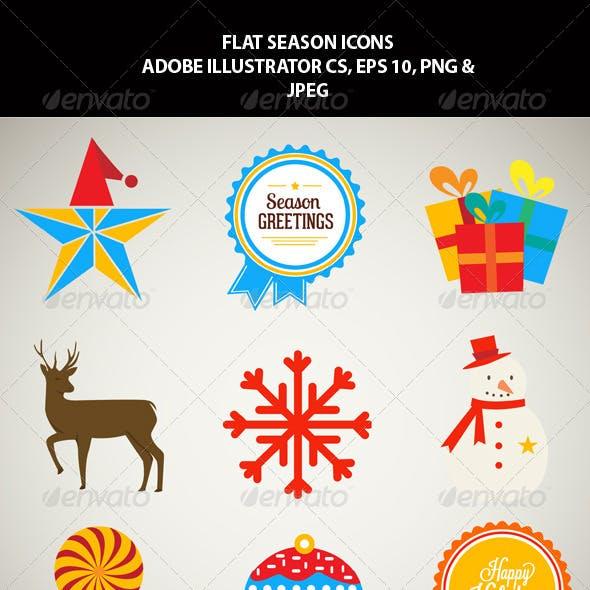 Flat Season Icons