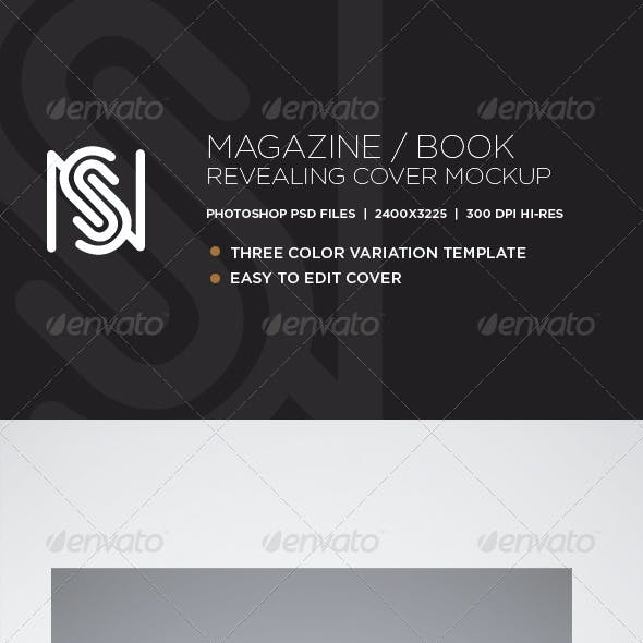 Photo Realistic Magazine/Book Revealing Mockup