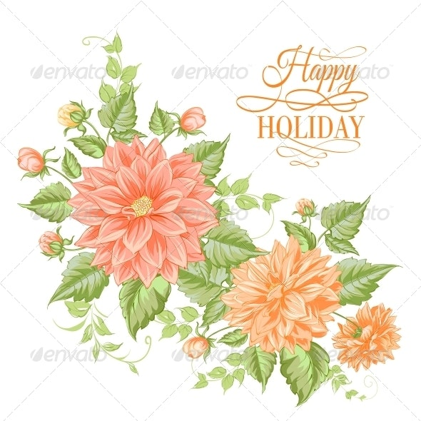 Chrysanthemum Holiday Card. - Flowers & Plants Nature