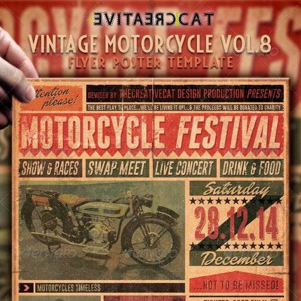 Vintage Motorcycle Flyer/Poster Vol. 8