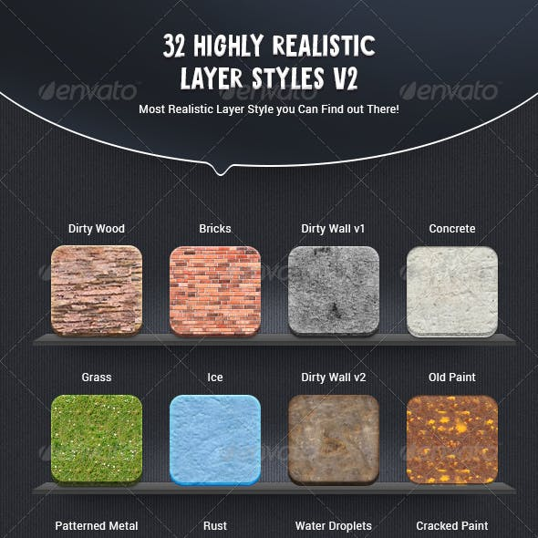 32 Highly Realistic Layer Styles v2