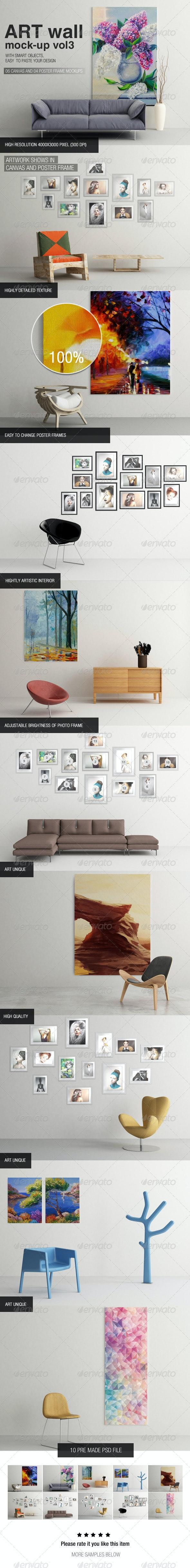Art Wall Mock-up Vol.3 - Miscellaneous Displays