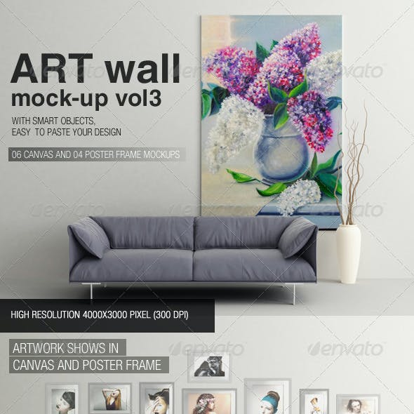 Art Wall Mock-up Vol.3