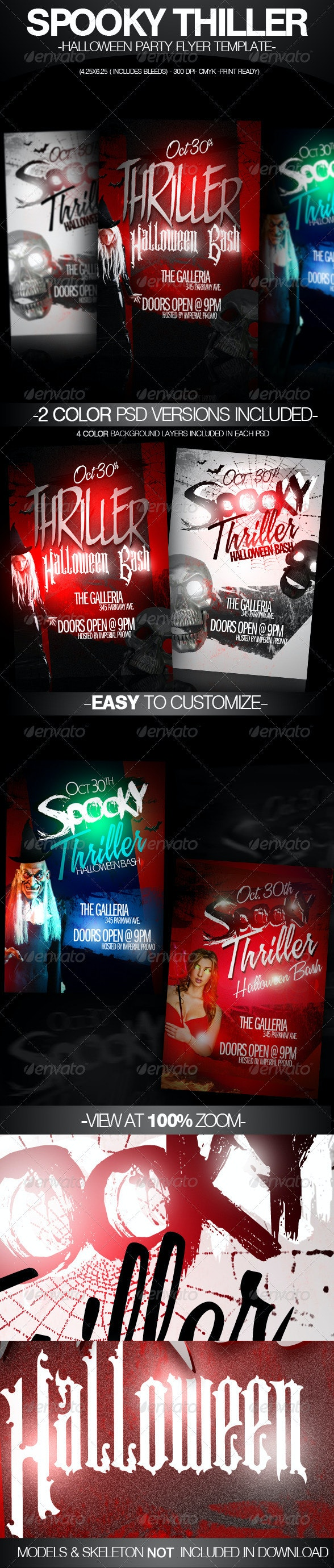 Spooky Thriller Halloween Flyer Template - Clubs & Parties Events