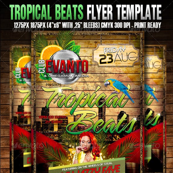 Tropical Beats Flyer Template