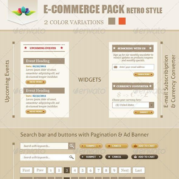 E-Commerce Pack Retro Style