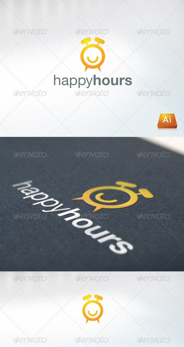 happyhours - Abstract Logo Templates