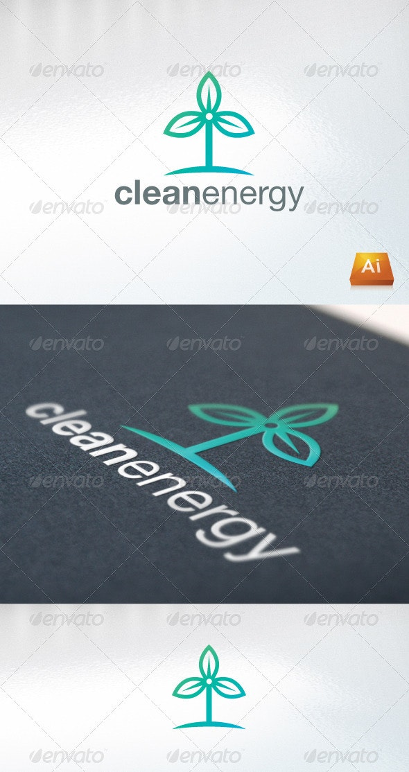 Clean Energy - Nature Logo Templates