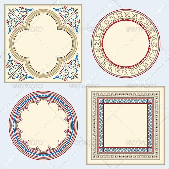 Heraldic ornamental frame set - Backgrounds Decorative