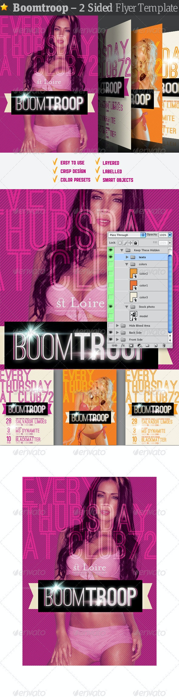 Boomtroop - Flyer Template - Clubs & Parties Events