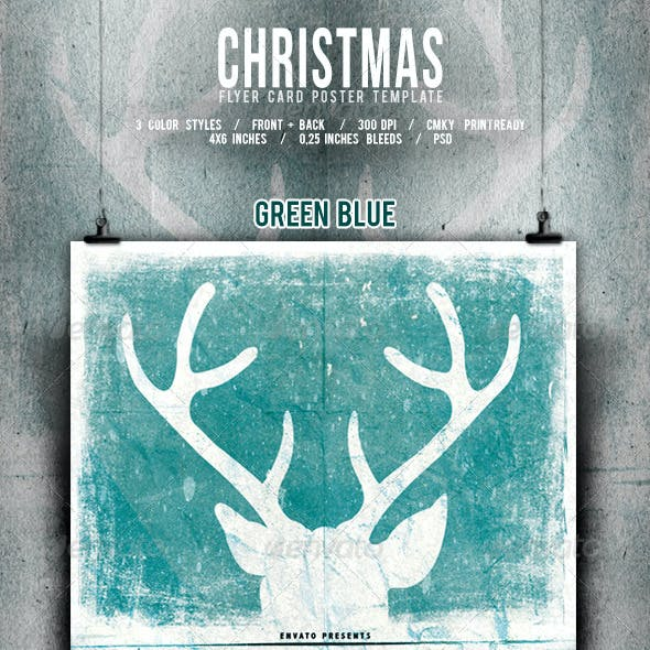 Christmas Flyer/Poster Retro Vol.5