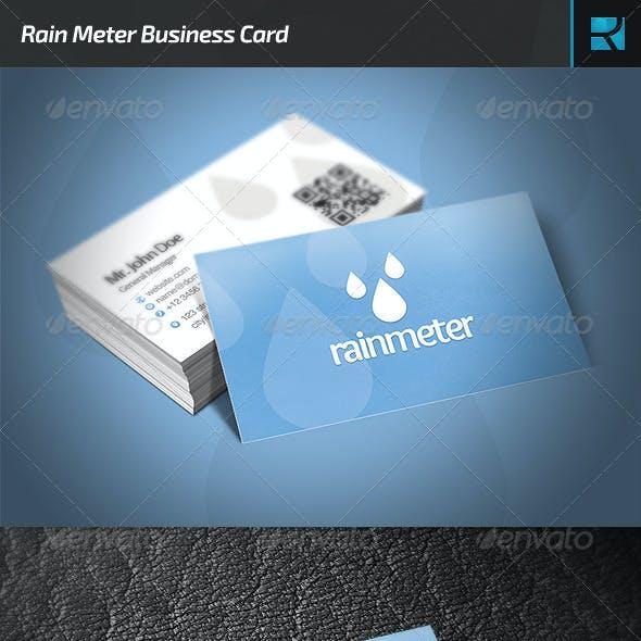 Rain Meter Business Card