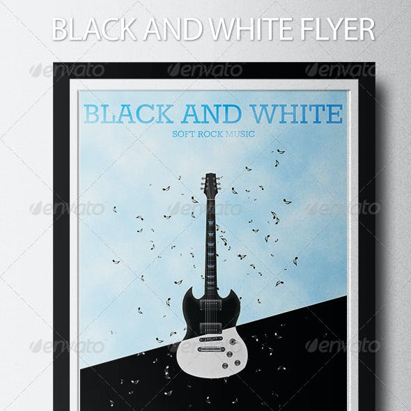 Black and White Music Flyer