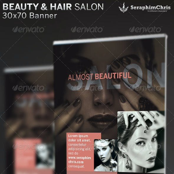 Beauty and Hair Salon Banner Template