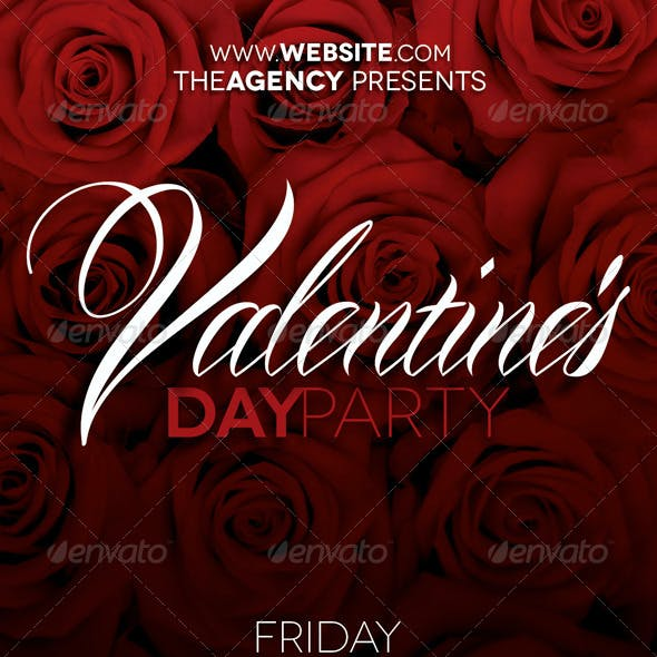 Valentine's Day Party Flyer
