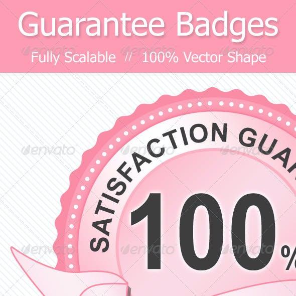 Guarantee Badge in 9 Styles