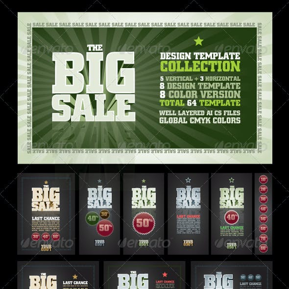 The Big Sale Design Template Collection