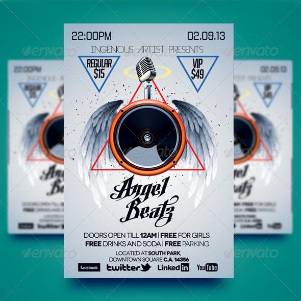 Angel Beatz Party Flyer