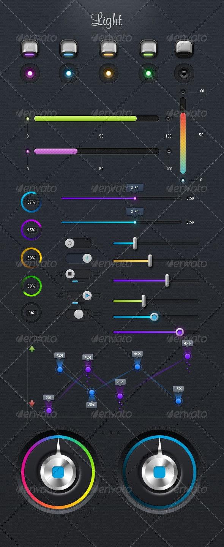 Light UI - User Interfaces Web Elements