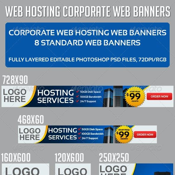 Corporate Web Hosting Banners